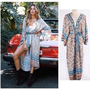 Boho Gypsy Cotton Kimono Robe NEW